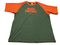 Nike Miami Hurricanes Football Shirt Size 2XL Green Orange NCAAF