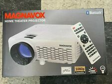 """Magnavox MP601 1080P Bluetooth Home Theater Projector TV Movies 100"""" Screen"""