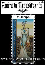 Le sibille tarocchi sybil Tarot cards deck book explanation hand made paintings