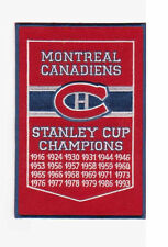 NHL MONTREAL CANADIENS STANLEY CUP CHAMPIONSHIP BANNER PATCH