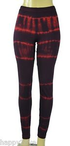 New HAPPY TIE DYE Red WASH Style Navy Stripes Leggings XS-XL American Apparel