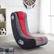 Red Black Video Game Rocker Chair Home Living Dorm Bedroom Furniture Speakers