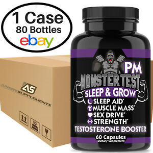 Monster Test PM Testosterone Booster, Wholesale Price Case of 80 Bottles (60 ct)