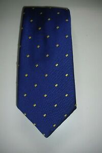 Charles TYRWHITT Blue / Gold Embroidered Silk / Cotton Blend  Tie