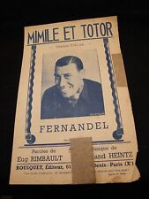 Partition Mimile et totor Fernandel Music Sheet