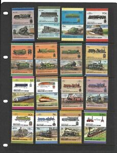 St Vincent Grenadines Leaders of the World Trains selection MNH (A11)