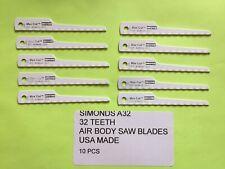 10 PC MAX CUT USA MADE 32 TEETH AIR BODY SAW BLADES