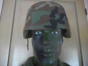 US ARMY MILITARY HELMET PASGT 8407-01-092-7527 UNICOR Medium M-1 & COVER