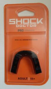 NEW Shock Doctor Pro Mouth Guard Adult 11+ Strapless - BPA & Latex Free