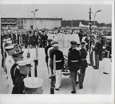 1965 PRESS PHOTO Washington DC Body Of Ambassador Adlai Stevenson Returns #715