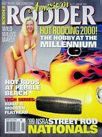 Vtg American Rodder Magazine January 2000 Build a Modern Flathead m1168