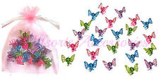 24 Mini Glitter Butterfly Hair Clamps Girls Hair Accessory Hair Grips Clips