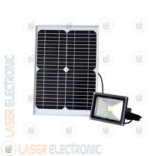 Faretto Solare a LED 20W Watt per esterno Pannello 18V Batteria interna 12V 4.4A
