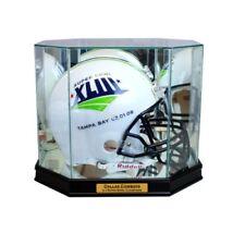 New Dallas Cowboys Football Helmet Display Case Black Sport Molding UV NFL