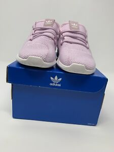 GIRLS: Adidas Tubular Shadow Shoes, Aero Pink/White - Size 10C AC8430