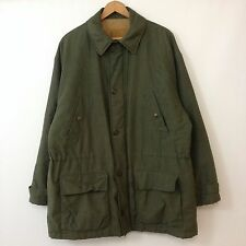 VTG 90s 00s GH Bass Green Military Style Quilted Jacket Mens SZ M Army Coat Hunt