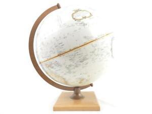 Vintage Replogle 12 inch Globe World Classic Series Wood Base Lifted Land Sea