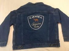 New Vintage 90s Joe Camel Genuine Taste Jean Denim Jacket Sz. Large Cigarette