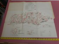 100% ORIGINAL SUSSEX MAP BY OWEN JONES C1884 VGC BOUNDARY COMMISSION
