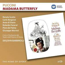 PUCCINI: MADAMA BUTTERFLY - SCOTTO/BERGANZI/PANERAI/BARBIROLLI/OOR   2 CD NEW+