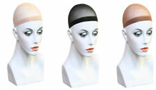 2 x Wig Cap Black & Nude Breathable Stocking Nylon Stretch Hair Liner Unisex