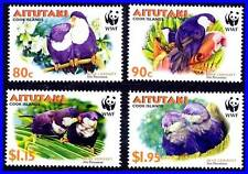 AITUTAKI 2002 WWF BIRDS PARROTS SC#533-36 MNH (3ALL)