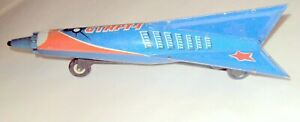 VINTAGE TIN TOY ROCKET SPACE START-1 60'S TIN FRICTION HOLDRAKETA USSR CCCP