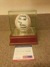 "HOF FRANK ROBINSON SIGNED BALL""INSCRIPTION 1966 TRIPLE CROWN(PSA COA)"""