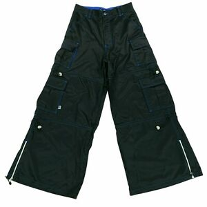 Vintage Macgear Wide Leg Rave Goth Pants Black Blue Men's Size 30 30x31