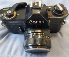 New ListingCanon Ef 35mm Slr Film Camera w Fd 28mm f/3.5 Lens Excellent Condition