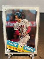 MOOKIE BETTS 2018 Topps Heritage Now & Then #NT-7 - Los Angeles Dodgers