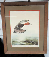 Red Head Duck signed, numbered by Sallie Ellington Middleton Framed VERY NICE!