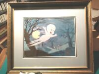 CASPER GHOST HARVEY FILMS HAND INKED & PAINTED LTD.ED. #13/250 NEW,CUSTOM FRAMED