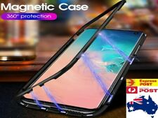 Magnetic Adsorption Alloy Metal Bumper Tempered Glass Case Cover For Samsung OZ