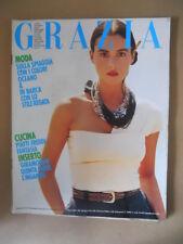 GRAZIA Rivista di moda n°2479 1988 Monica Bellucci [VL16-1] Rarissimo!