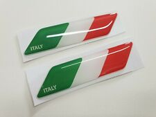 Fiat 500 595 Alfa romeo Italian italia 70mm exterior badges x2 Decals Stickers