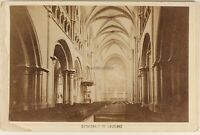 Suisse Cattedrale Da Lausanne Interno Foto Bruder Vintage Albumina c1880