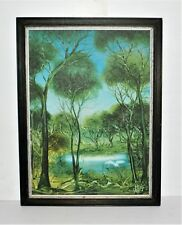 Pro Hart 1928-2006, Signed,  Water Birds Painting collection 59 x 42cm #30871
