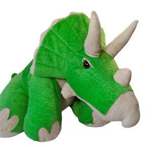"Triceratops Dinosaur 25""x11"" Plush Stuffed Animal Alley Large Green Toys R Us"
