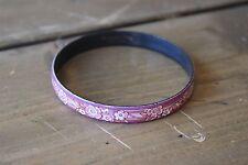 Vintage Michaela Frey Australia Pink Purple Enamel Bangle Bracelet