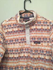 Patagonia Lightweight Synchilla Snap T Pullover Desert Aztec Womens Large
