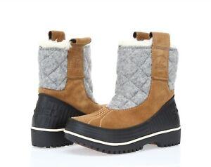 Sorel Tivoli Women's brown Insulated fleece lined Pull-On Boots sz. 5