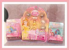 ❤️NEW Squinkies Disney Princess Belle Cinderella ARIEL Surprize Bracelet Lot❤️