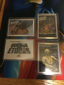 2021 Topps Star Wars Chrome Galaxy GLOBAL POSTER Partial Lot 4 Insert