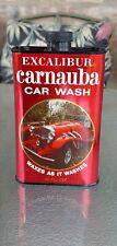 VINTAGE Excaliber Carnauba Car Wash Tin Can 15 Oz No Rust Nice!