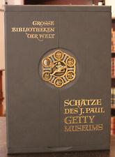 Große Bibliotheken der Welt Schätze des J. Paul Getty Museums 2009 Faksimile sf