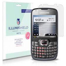 iLLumiShield Matte Screen Protector w Anti-Glare/Print 3x for Samsung Omnia Pro