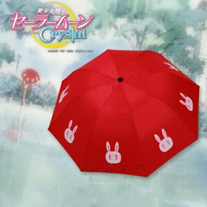 Sailor Moon Moonlight Memory Red Tsukino Usagi Umbrella Rabbit Cosplay Props