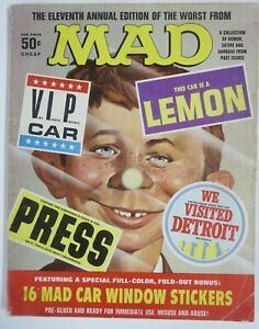 WORST FROM MAD #11 (1968) With Stickers! GOOD (G) Spine split, stains, wear