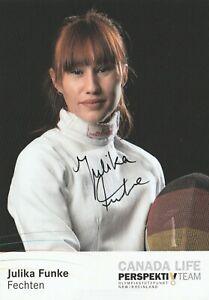 Julia Funke      -     Säbelfechterin    -    original Autogramm